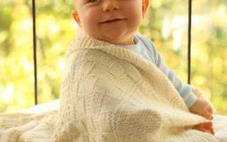 Пледы, покрывала и одеяла для малышей спицами
