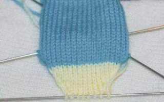 Носочки для малышей спицами, с описанием