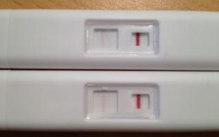 Тест — вторая полоска — беременность или реагент?
